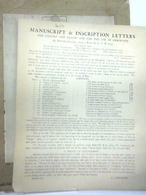 Manuscript & Inscription Letters for Schools (Edward Johnston - 1928) (ID:78103)