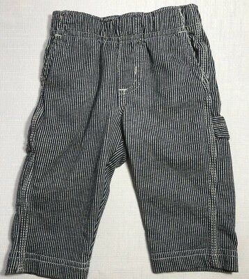 Tea Collection Boys 3-6 Month Engineer Striped Painter Denim-Look Knit Pants