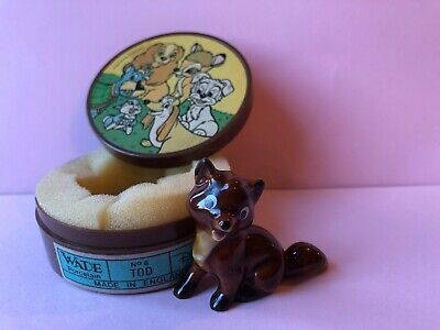 WADE Whimsie Lady and Tramp Disney Hat Box TODD Including Plastic Box