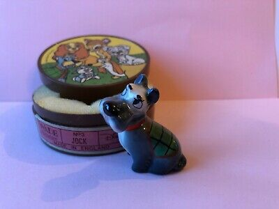 WADE Whimsie Lady and Tramp Disney Hat Box JOCK GREEN COAT Including Plastic Box