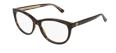 194af0093e NEW GUCCI EYEGLASSES GG 0131O 002 BROWN GOLD 53mm RX AUTHENTIC 0131 ...