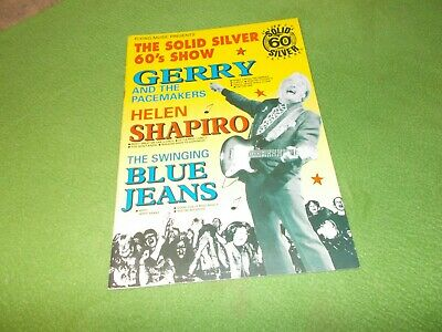 The Solid Silver 60's Show UK PROGRAMME Gerry & The Pacemakers HELEN SHAPIRO