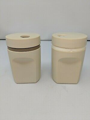 Set of Vintage Tupperware Salt & Pepper Shaker Twist Top - Used