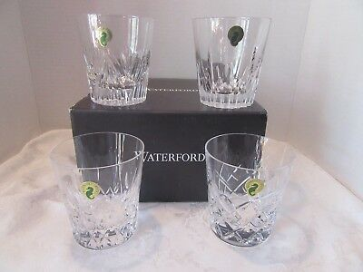 Waterford 4 Distinctive Patterned Double Old Fashioned Barware Glasses  55% Off