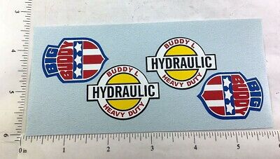 Accessories, Parts & Display Stickers, Decals & Iron-ons Buddy L Sharknose Shell Tanker Truck Sticker Set Bl-177