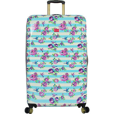 "BETSEY JOHNSON S. F. Hummingbird 30"" Expandable Hardside Checked NEW"