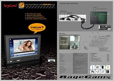 "7""Waterproof Monitor HD Marine LCD HDMI PKG For Hummingbird 899ci ONIX ION MFD"