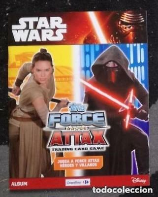 Album Star Wars Topps Force Attax Tradding cards game: Vacio + 100 sobres nuevos