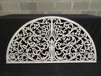 ~ Beautiful Antique Carved Fretwork Transom ~ 59 X 30 ~ Architectural Salvage