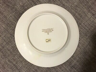 "Fitz and Floyd ""Imperial Garden"" 1978 Salad Plates - Set of 8  Japanese Design"