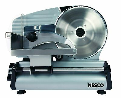 Electric Meat Slicer Commercial Food Cooks Steel Deli Cheese Cutter NESCO FS-200