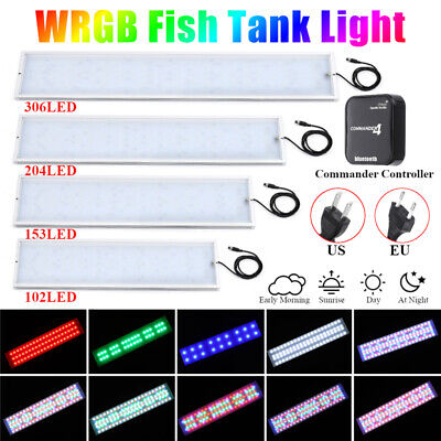 For 30-110CM Chihiros WRGB LED Aquarium Fish Tank Light  Bluetooth Commander 4