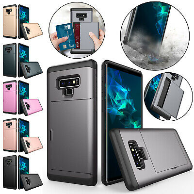 For Samsung Galaxy S8 Plus Case S7 Edge Shockproof Hybrid TPU Card Holder Cover