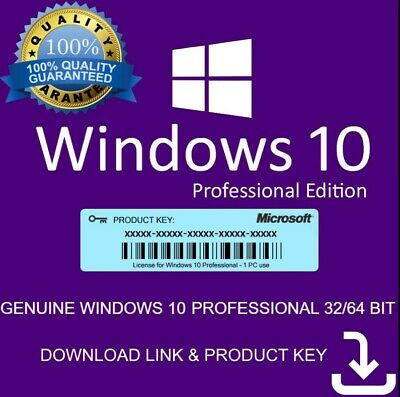 Microsoft Windows 10 Pro License Product Key + Download Instant Send