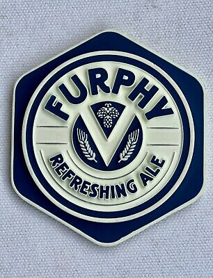 Tap Beer Decal Furphy Refreshing Ale Victoria Metal Badge Top Pub Free Postage!