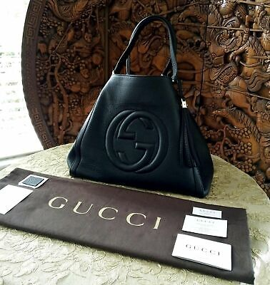 5adfdd3c0bb NEW 100% AUTHENTIC GUCCI RED Soho Hobo Leather Shoulder Bag 536194 ...