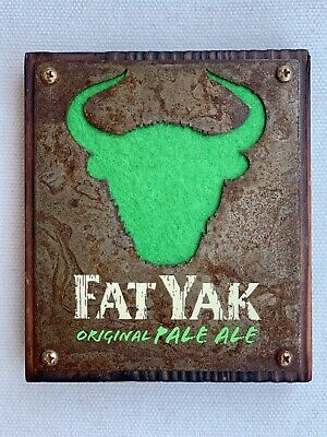 Tap Beer Decal Fat Yak Wooden Badge Top Pub Free Postage!