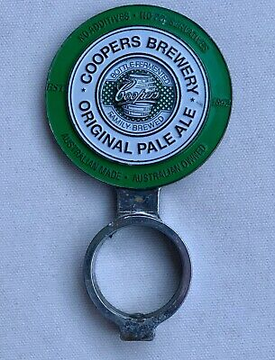 Tap Beer Decal Coopers Double Sided With Mount Metal Badge Top Free Postage!