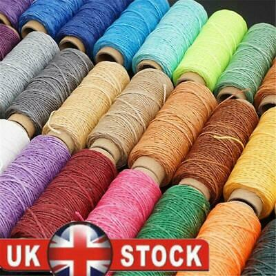 30m/roll Waxed Thread Cotton Cord Sewing Line Hand Stitching