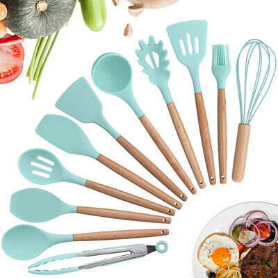 11x Kitchen Utensil Set Cooking Baking Spoon Utensils Nonstick Silicone Handle