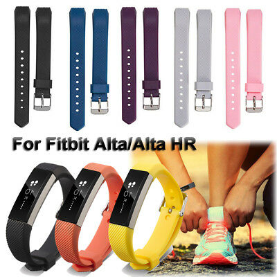 TOP Replacement Silicone Watch Band With Buckle For Fitbit Alta and Alta HR HQ