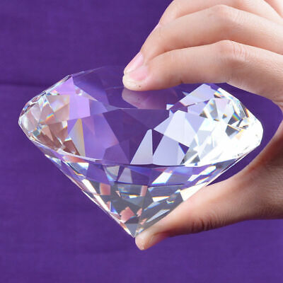 100mm Crystal Paperweight Cut Glass Large Giant Diamond Jewelry Gift