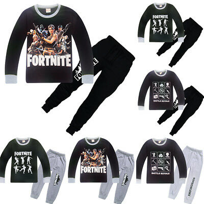 Fortnite Costume Cosplay Sweatshirts T shirt +Pants Outsets Outfits Pyjamas
