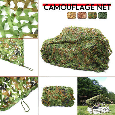 Woodland Camo Army Net Camouflage Netting Hunting Shooting Tree Hide Netting