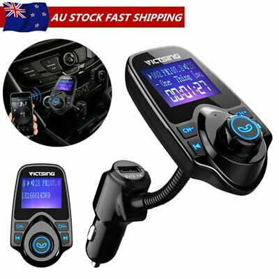 Victsing FM Transmitter Wireless Bluetooth Car Kits Radio MP3 Player USB Charger