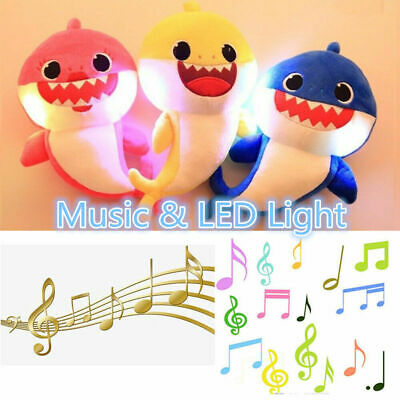 Baby Shark Plush Singing Plush Toys Music Song Doll English Creative Gift Toy