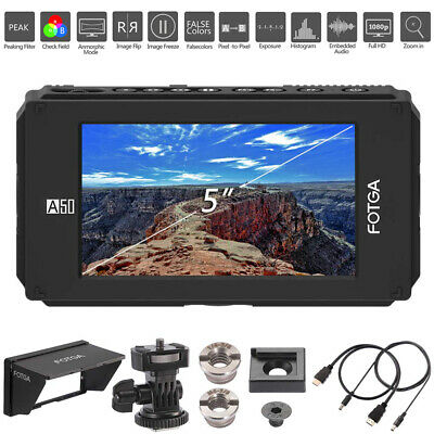 "FOTGA DP500IIIS A50 5""Camera Filed Video Monitor Support 4K HDMI HD Dual Battery"