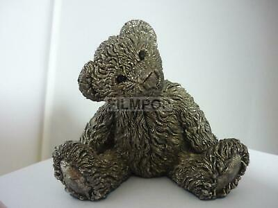 Stunning Large Sterling Silver Teddy Bear By Country Artists