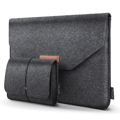 HOMIEE 13-13.3 Inch Laptop Sleeve, Felt MacBook Protective Cover Case for...