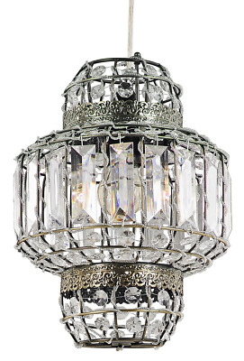 Haysom Interiors Classic Morrocan Lantern Style Antique Brass Clear Acrylic...