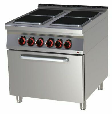 Electric Stove with Oven, 800x900x900 mm, 4 Panels, 4x 3,5 Kw