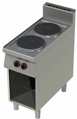 Electric Stove with Open Base, 400x900x900 mm, 2 Panel