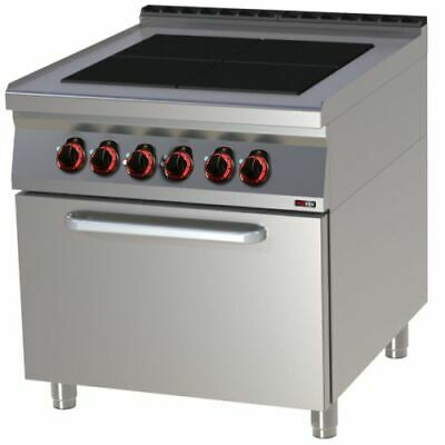 Electric Stove with Convection Oven, 800x900x900 mm, 4 Panels