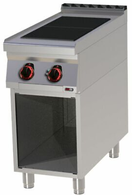 Electric Stove with Open Base, 400x900x900 mm, 2 Plates
