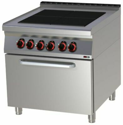 Electric Stove with Oven, 800x900x900 mm, 4 Plates