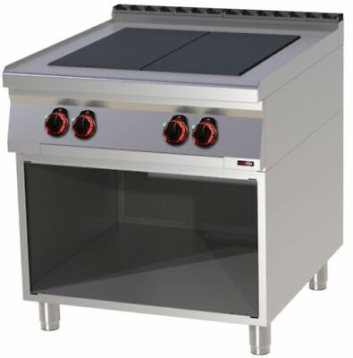 Electric Stove with Open Base, 800x900x900 mm, 4 Plates