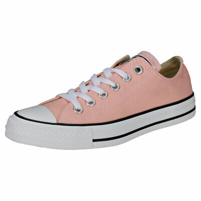 da93ce6a238f Converse Chuck Taylor All Star Ox Womens Pink White Canvas Classic Trainers