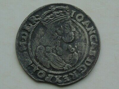 Poland / Lithuania 6 Groschen of John II Casimir, dated 1666-AT  nice detail