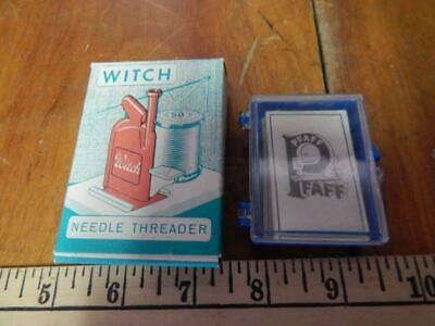 Vintage Sewing Collectibles or Items, Pfaff Needeles + Witch Threader! IOB
