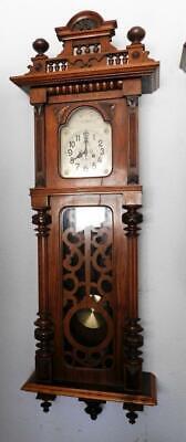 monsta sized walnut cased springer vienna  wall clock-- 5 feet in length