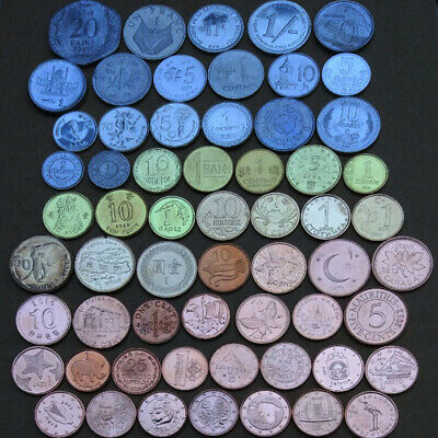 60 PCS Lot Coins From 60 Different Countries Commemorative Coin Collection