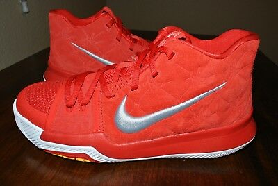57a144e5f081 Nike Kyrie 3 Gs University Red White Yellow 859466 601 Us Youth Sz 7Y   8.5