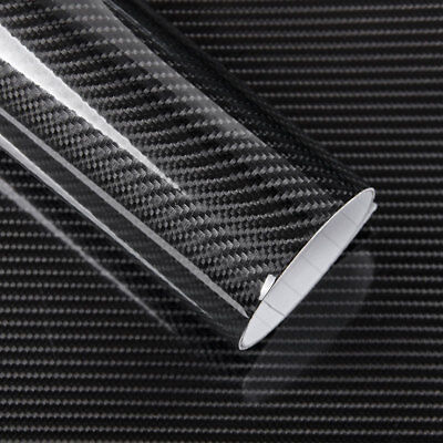 5D Carbon Fiber Car Vinyl Wrap Ultra Gloss Sticker Decal Black Graphics 152*20cm