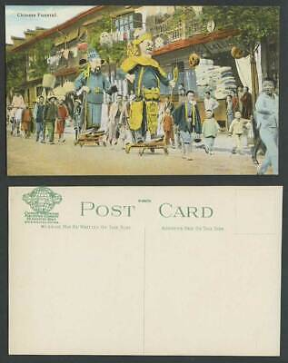 China Old Postcard CHINESE HIGH OFFICIAL FUNERAL Street Procession Boys Shanghai