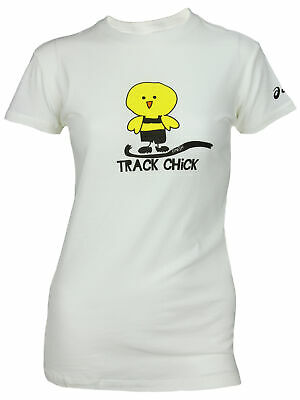 Asics Women S Track And Field Tee T Shirt Top White