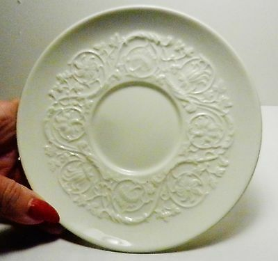 Wedgwood Patrician Plain-Saucer-Etruria Barlaston-incised 1940's- Old Backstamp.